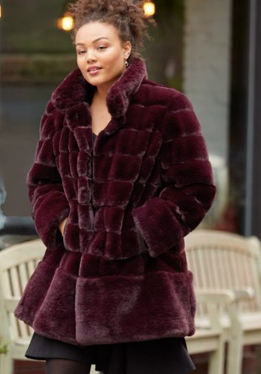 Plus Size Faux Fur Coat by Jones New York at Macys.com