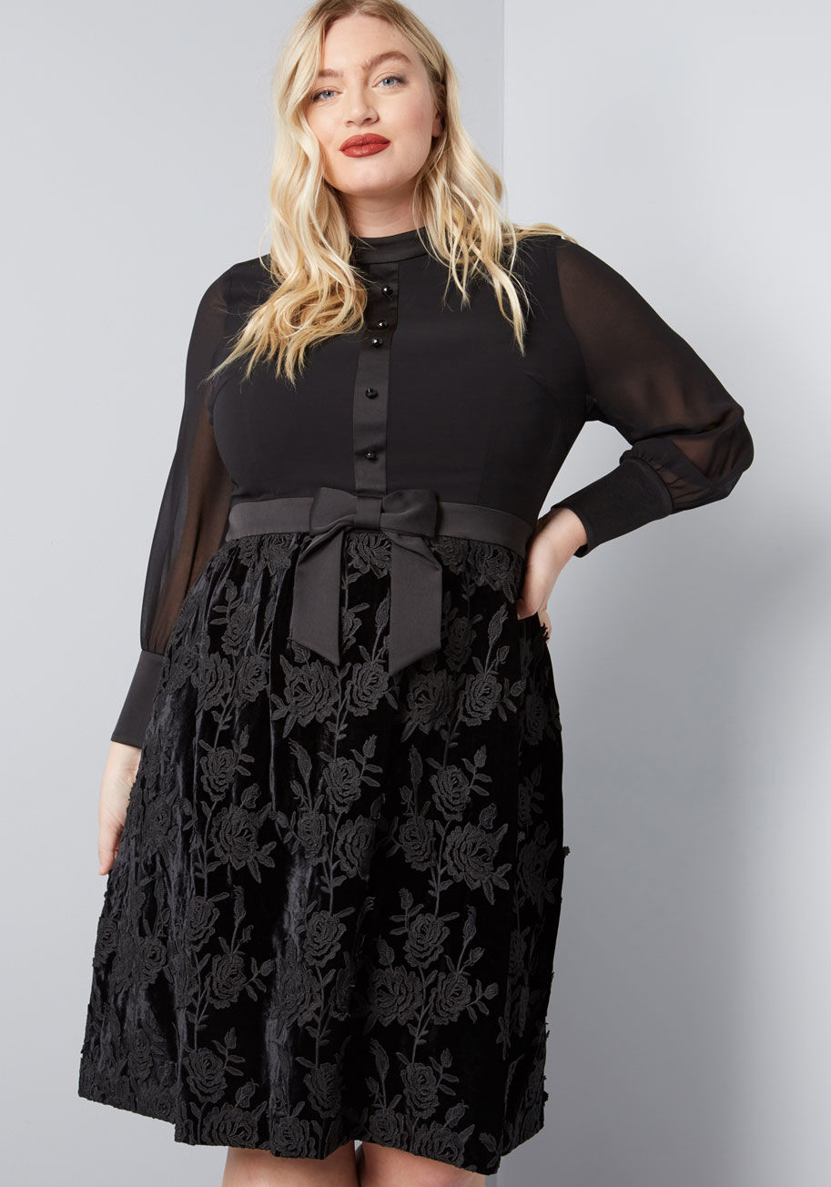 ModCloth x Anna Sui Enigmatic Mood A-Line Dress in plus size