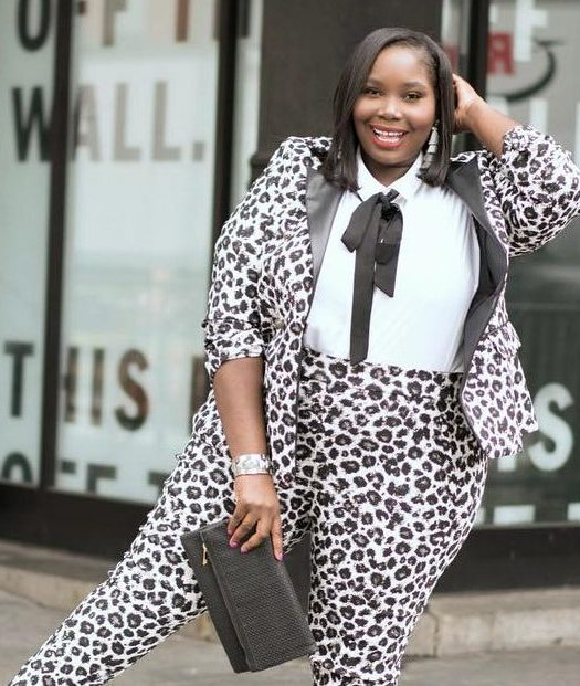 Alissa from Stylish Curves in Lane Bryant Plus Size Leopard Suit