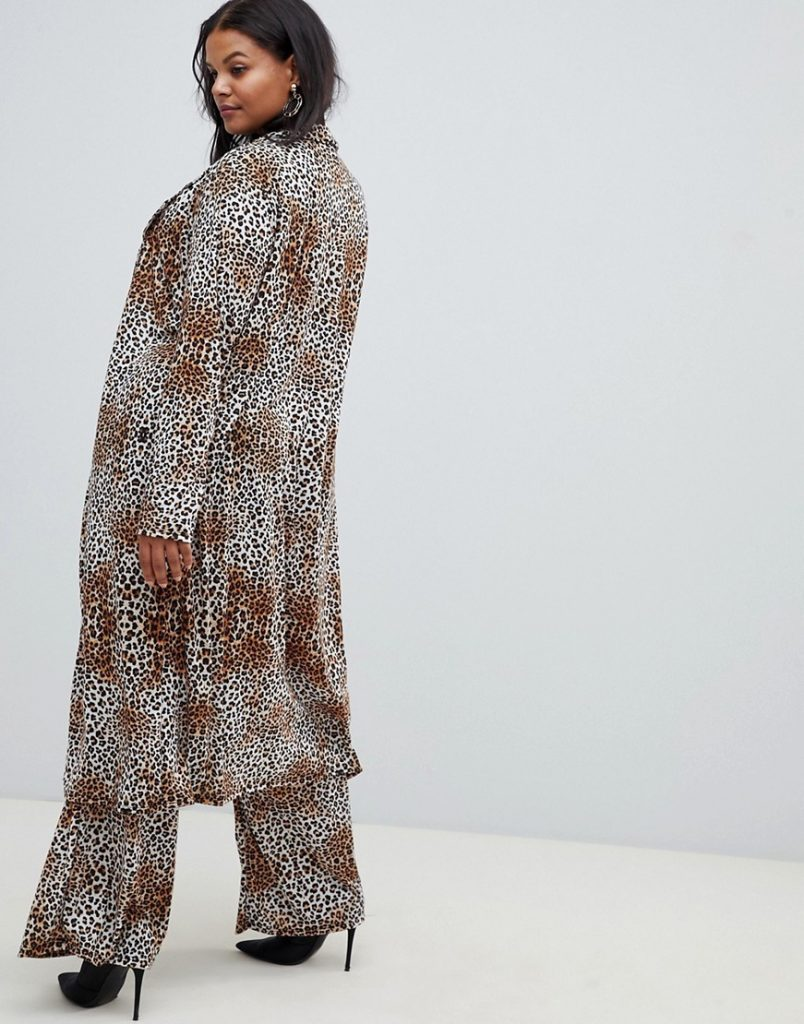 Love a Plus Size Leopard Print, then Check These Out- Pink Clove duster jacket in leopard