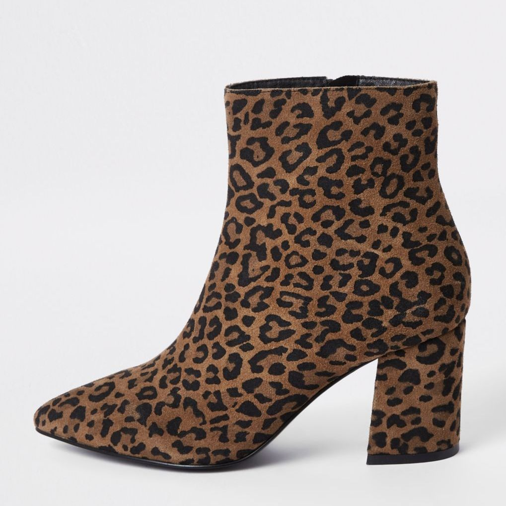 13 Must Rock Wide Width booties for the Fall- Brown wide fit leopard print ankle boots