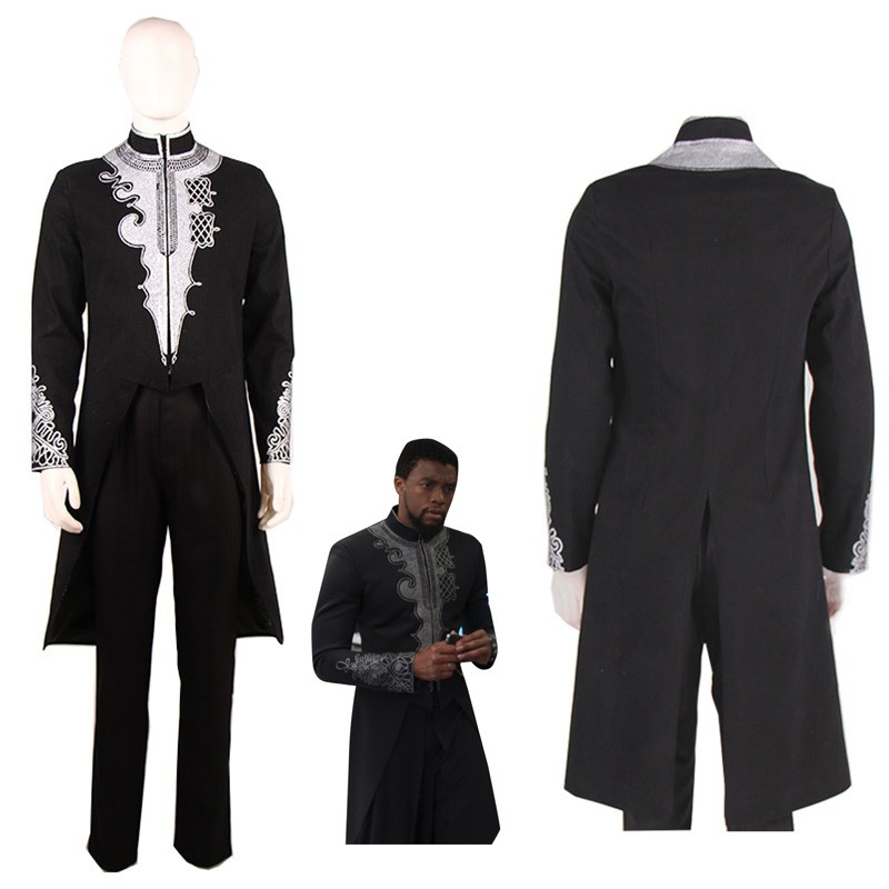 Black Panther T'Challa Coat Cosplay Costume Wakanda Suit