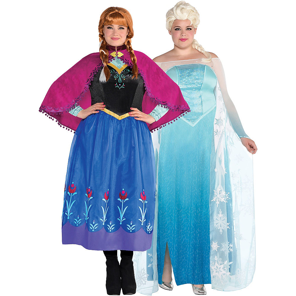 Anna & Elsa Couples Plus Size Costumes at PartyCity.