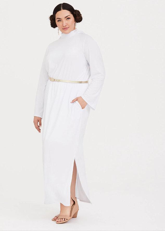 Star Wars Princess Leia White Maxi Dress