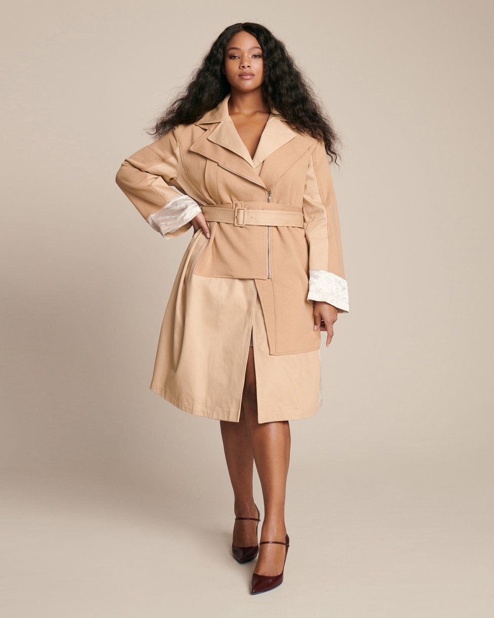 Luxury Plus SIze Fashion Finds at 11 Honore: KOCHÉ Deconstructed Plus Size Trench