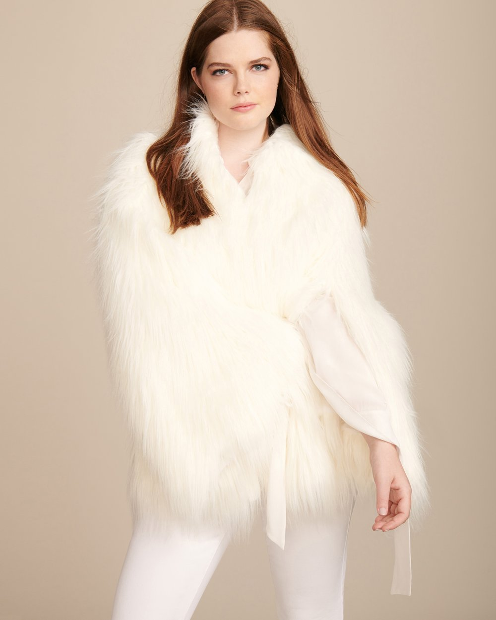 Luxury Plus SIze Fashion Finds at 11 Honore: HOUSE OF FLUFF Convertible Plus Size Cape Coat
