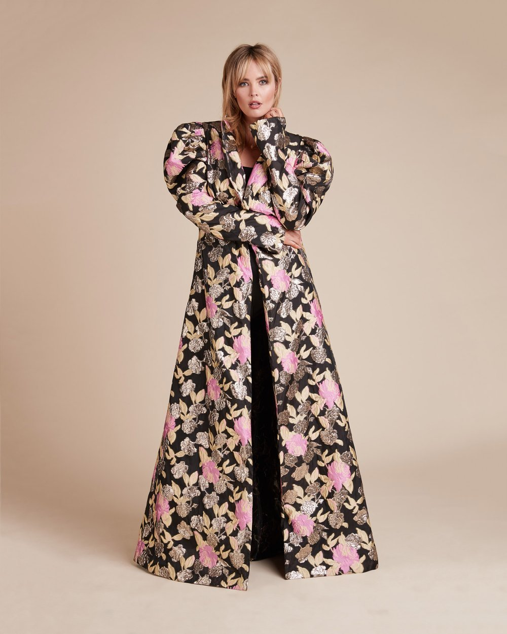 Luxury Plus SIze Fashion Finds at 11 Honore: CHRISTIAN SIRIANO Psychadelic Floral Evening Plus Size Coat
