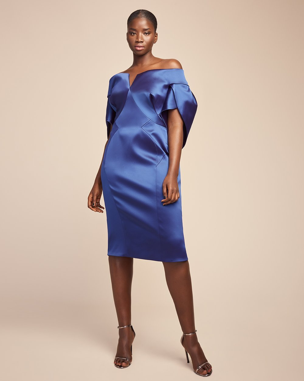 Luxury Plus SIze Fashion Finds at 11 Honore: ZAC POSEN Off-The-Shoulder Plus Size Dress