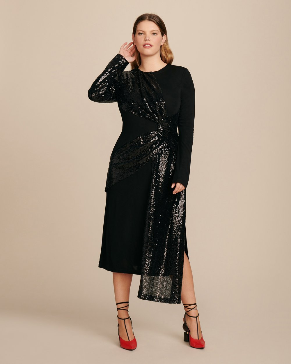 Luxury Plus SIze Fashion Finds at 11 Honore: PRABAL GURUNG Shilu Twist Front Plus Size Dress