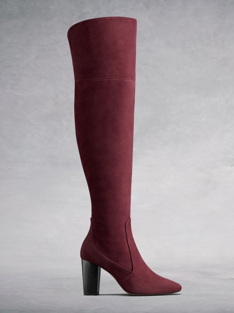 35+ Fall Wide calf boots to rock now- Parkhurst High-heeled suede over-the-knee boots