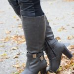35+ Fall Wide calf boots to rock now- BRETT Charcoal Wide Calf Knee High Boots
