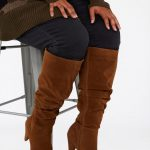 35+ Fall Wide calf boots to rock now- Tall Ruched Leg Heeled Boot