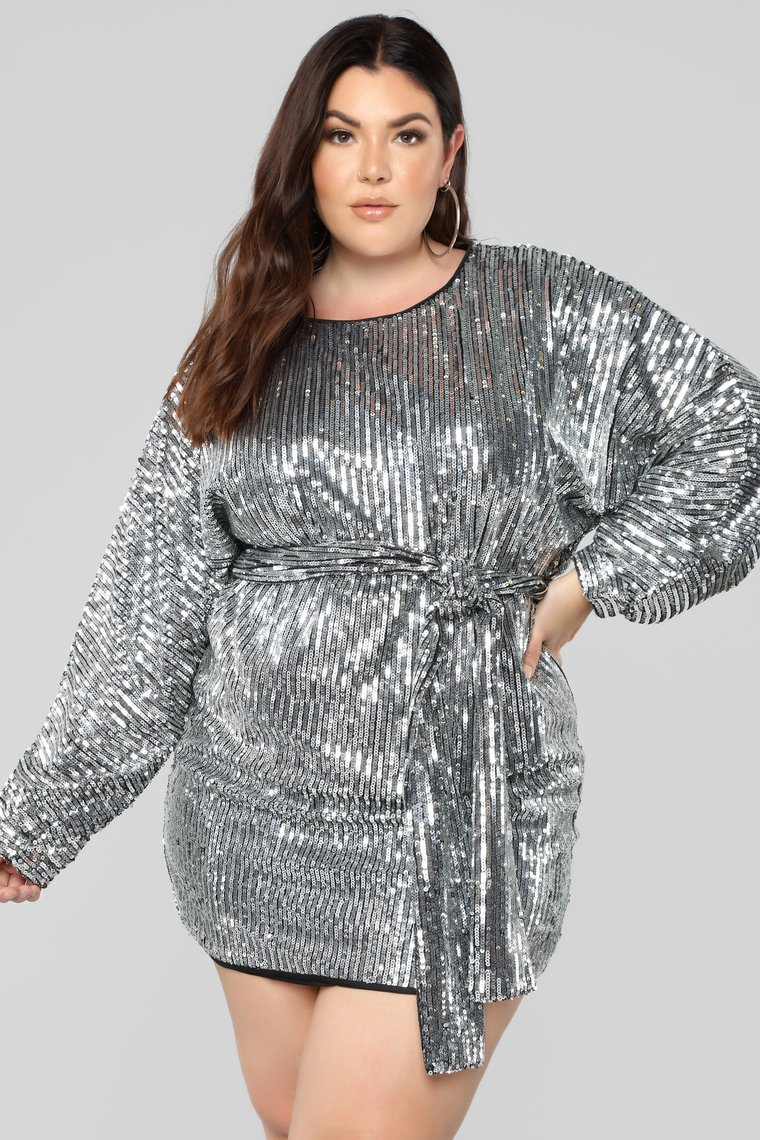 The Best Plus Size Sequins Finds for New Yea's Eve: Where's The Party At Sequin Dress
