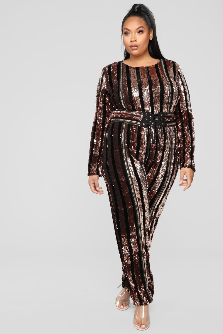 The Best Plus Size Sequins Finds for New Yea's Eve: Modern Disco Sequin Jumpsuit