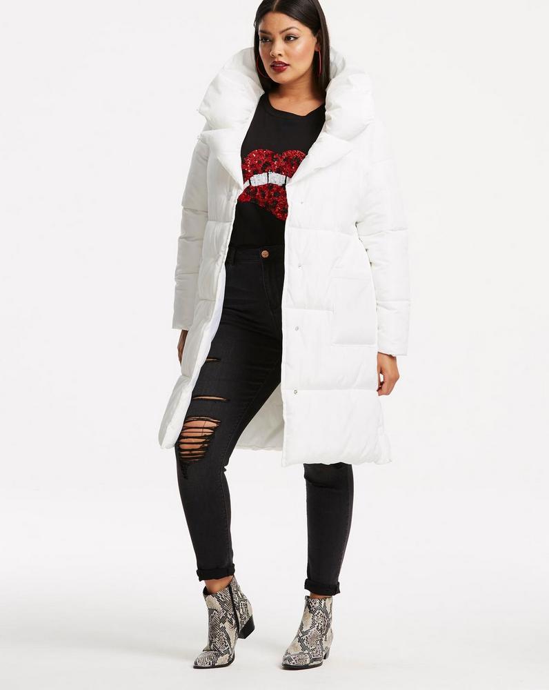 25 Must Rock Plus Size Puffer Coats- Duvet Style Padded Coat