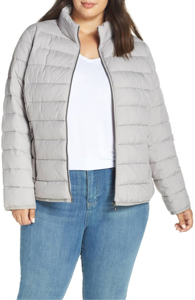 25 Must Rock Plus Size Puffer Coats- Bernardo Water-Resistant Thermoplume Insulated Jacket