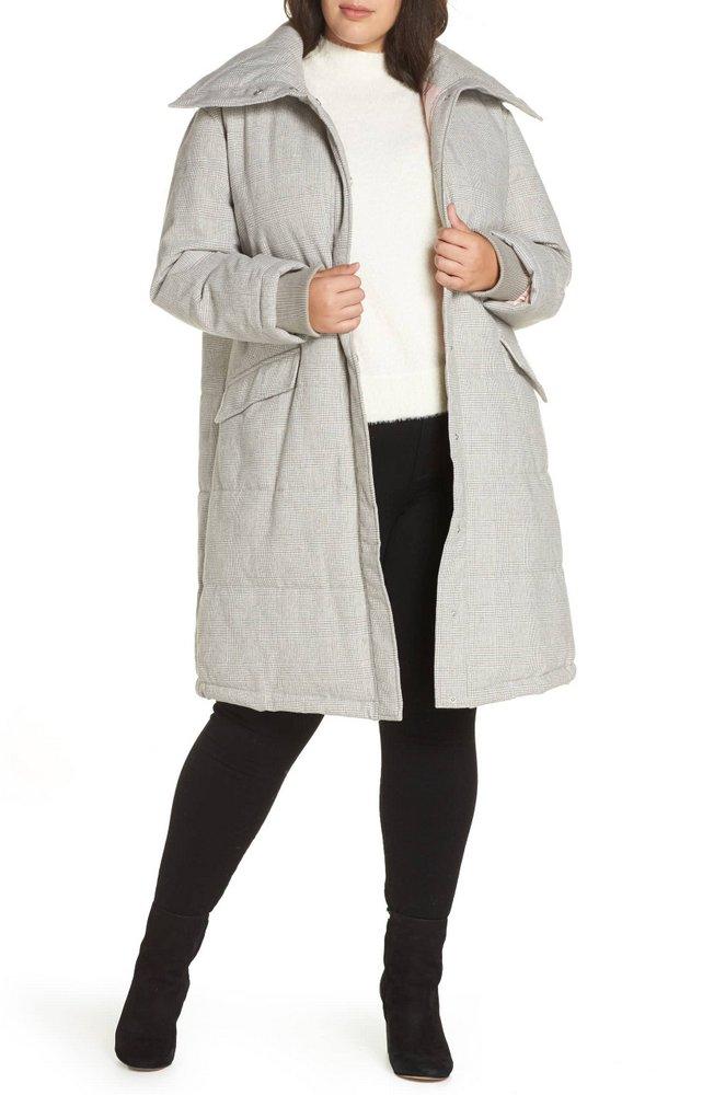 25 Must Rock Plus Size Puffer Coats- Avec Les Filles Menswear Plaid Puffer Coat