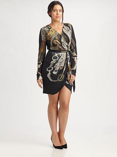FUZZI Wrap Dress in Plus Sizes