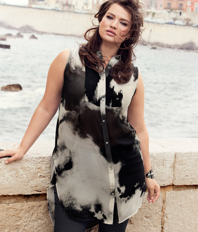 H&M Plus Fall 2012 Campaign featuring Tara Lynn