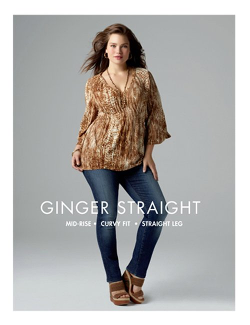 Lucky Jeans in Plus Sizes featuring Tara Lynn