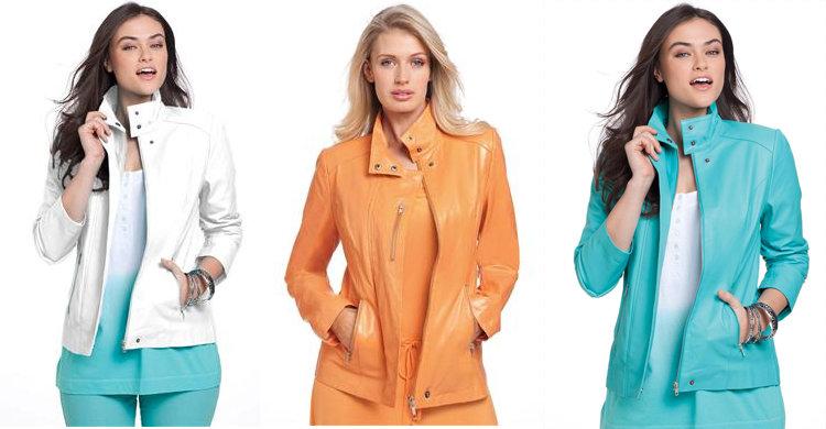 Jessica London Plus Size Leather Jacket