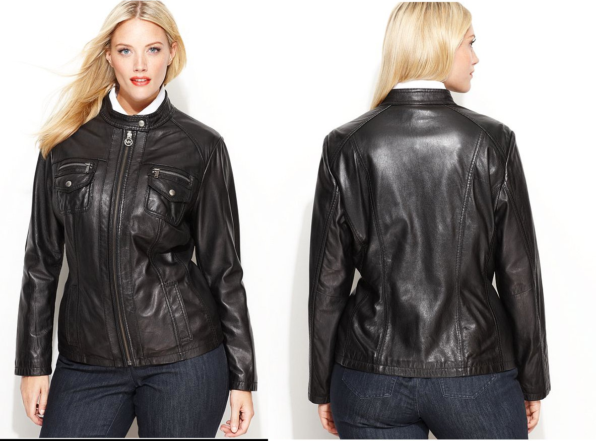 Michael Kors Plus Size Leather Jacket