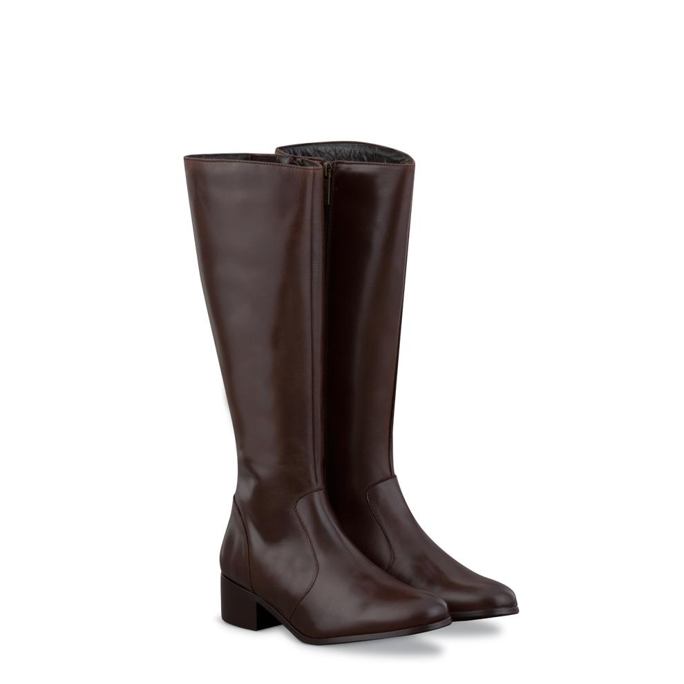 Wide Calf Boots: Duo boots Beech