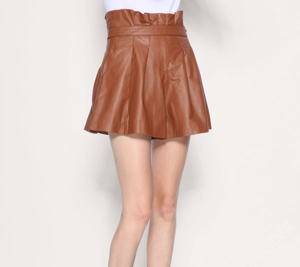 Leathercult Stone Wrap Skirt