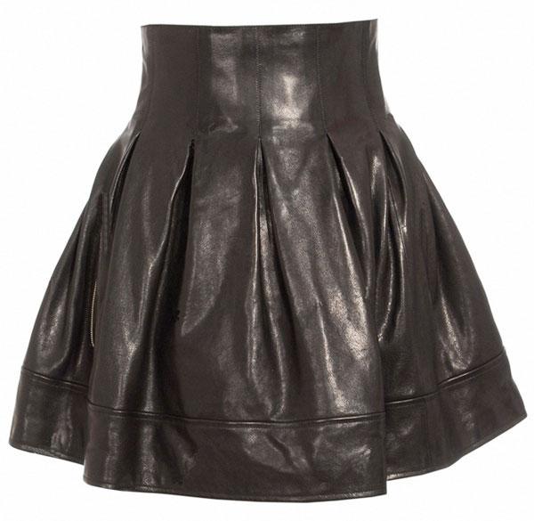 Leathercult Petal Leather Skirt
