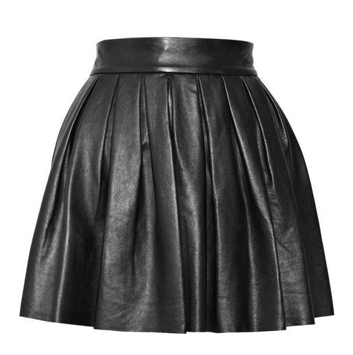 LeatherCult pleated leather skirt