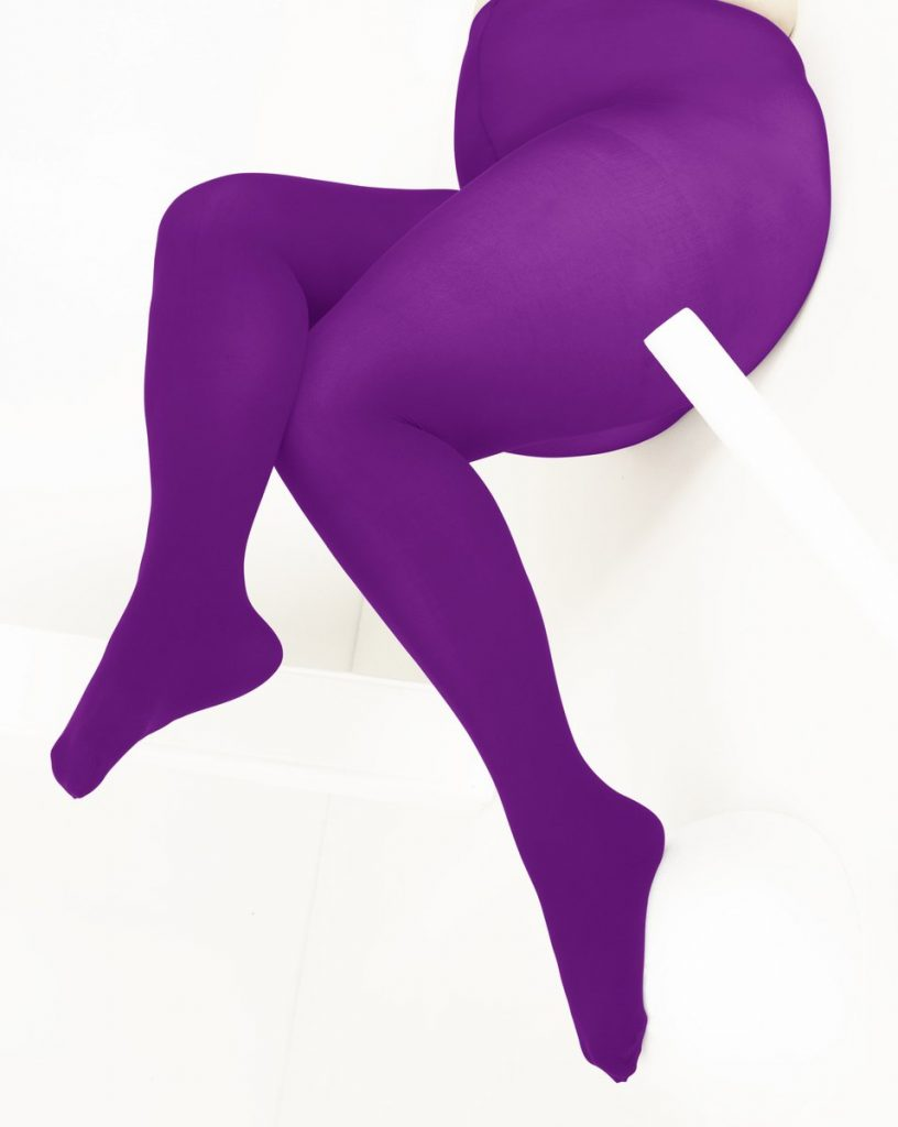 We love Colors Plus Size Amethyst Tights