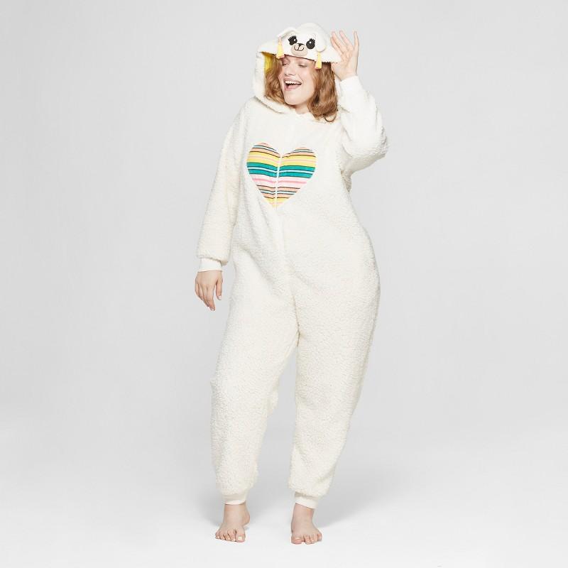 Plus Size Llama Union Suit