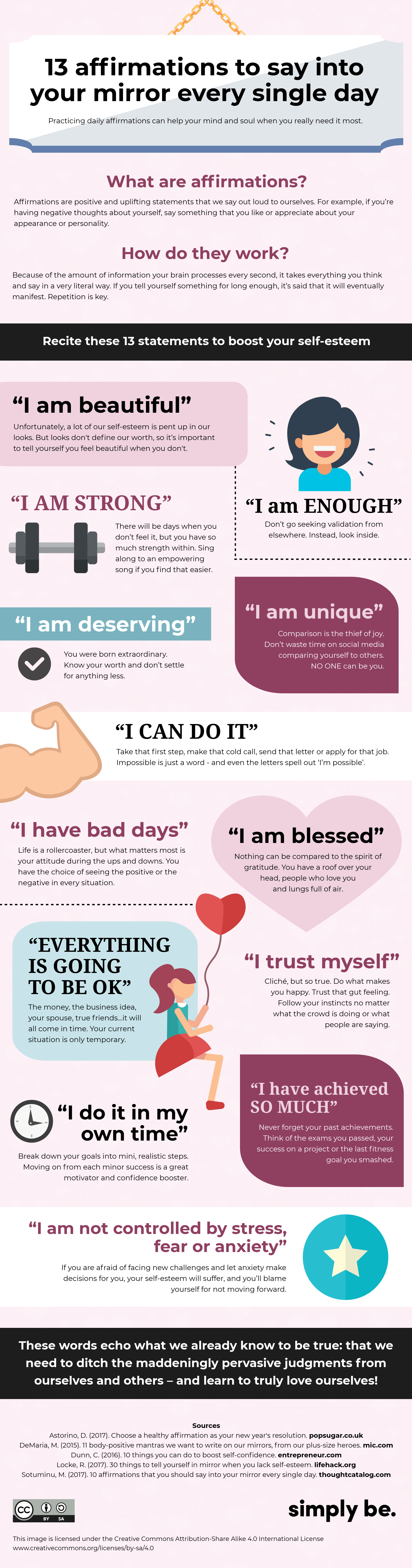 13 powerful affirmations to boost your self-esteem