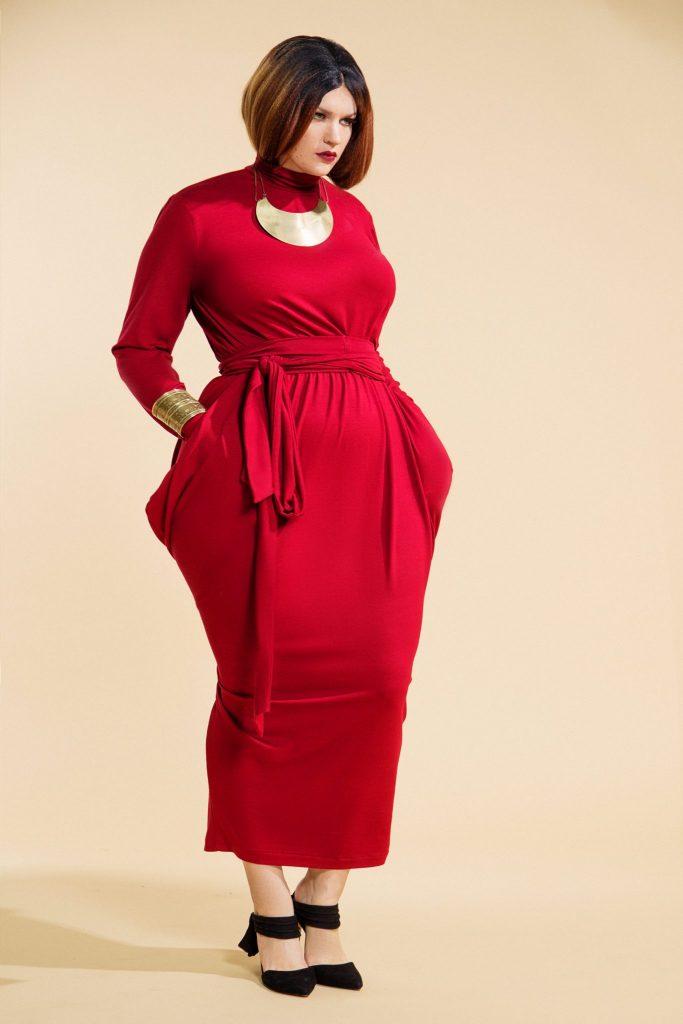 Jibri Slouch Ls T-Neck Dress