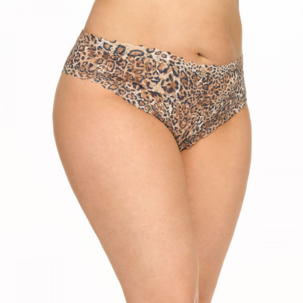 Plus Size Panties for Valentine's Day- Leopard Nouveau *Plus Size* Crotchless Cheeky Hipster