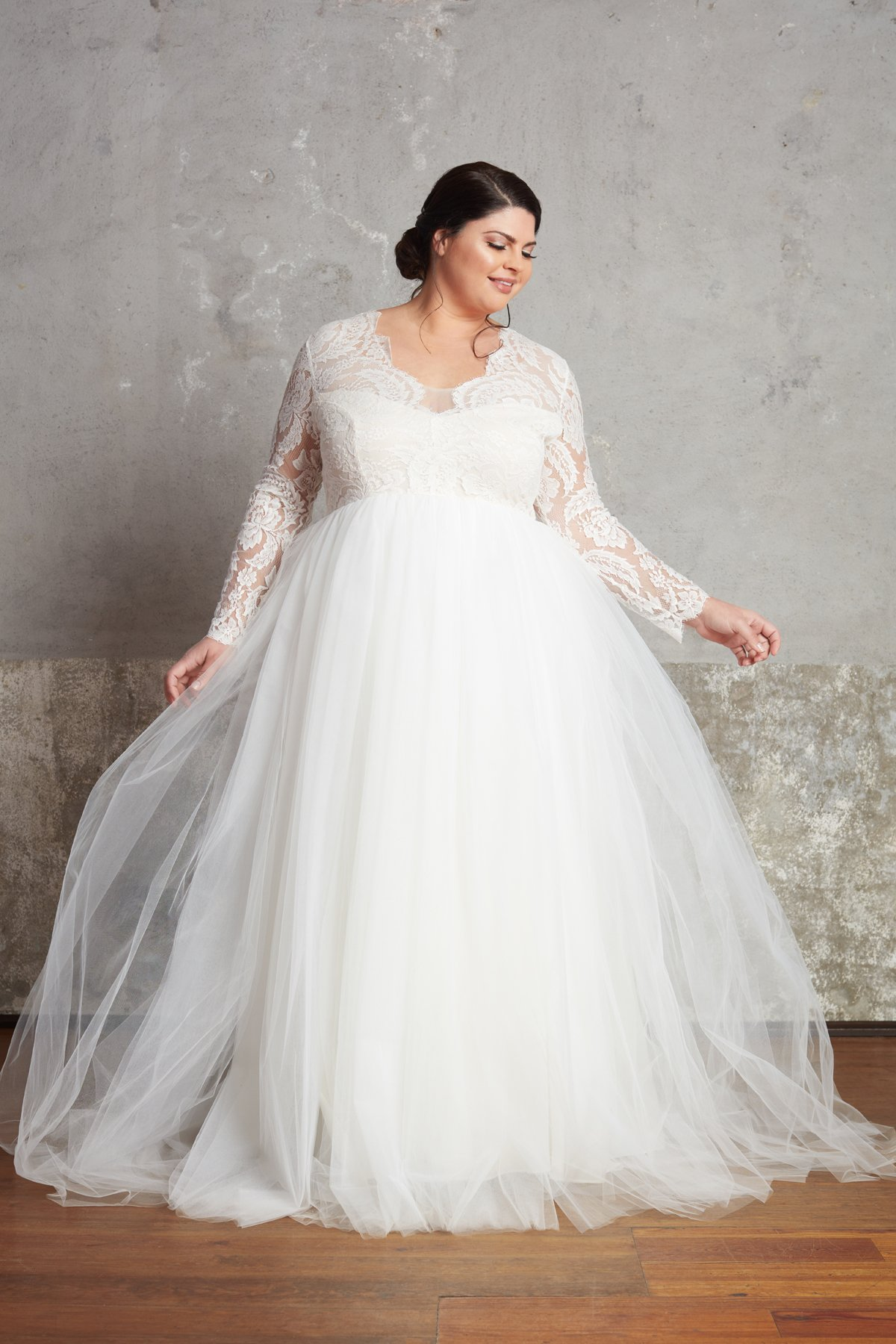 The Michelle Gown Plus Size Bridal by Ella and Oak