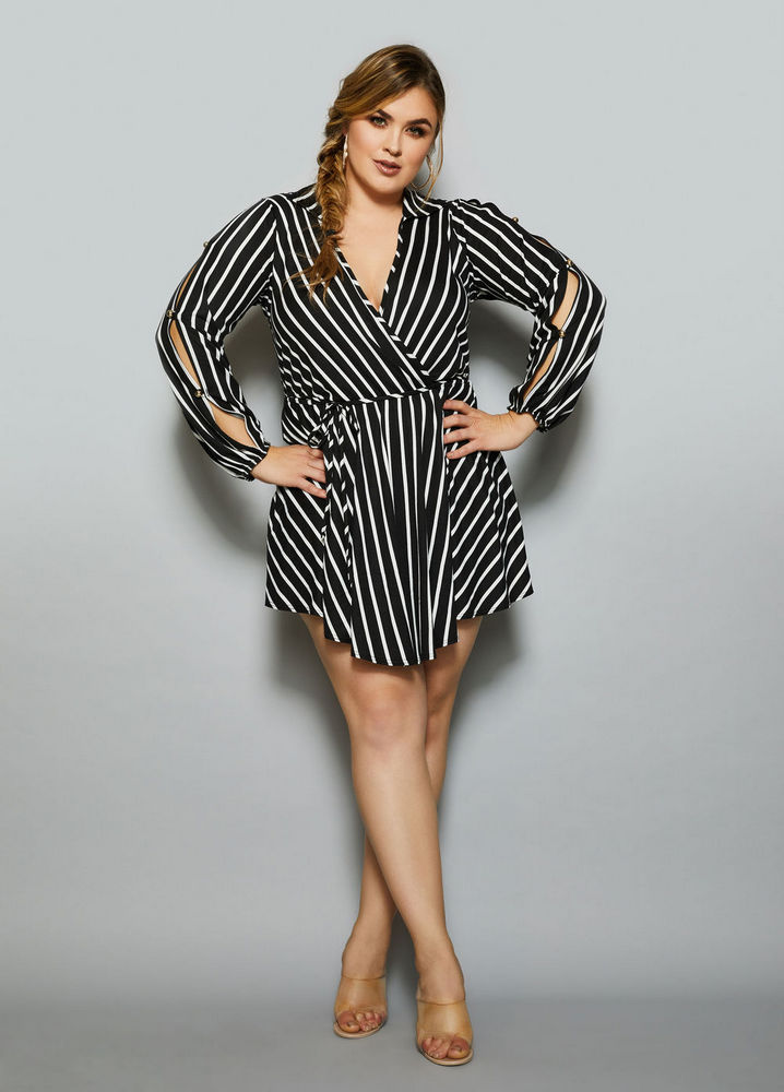 The Misty Romper at AshleyStewart- Spring plus size favorites from Curvy Girl Collection by Ashley Stewart
