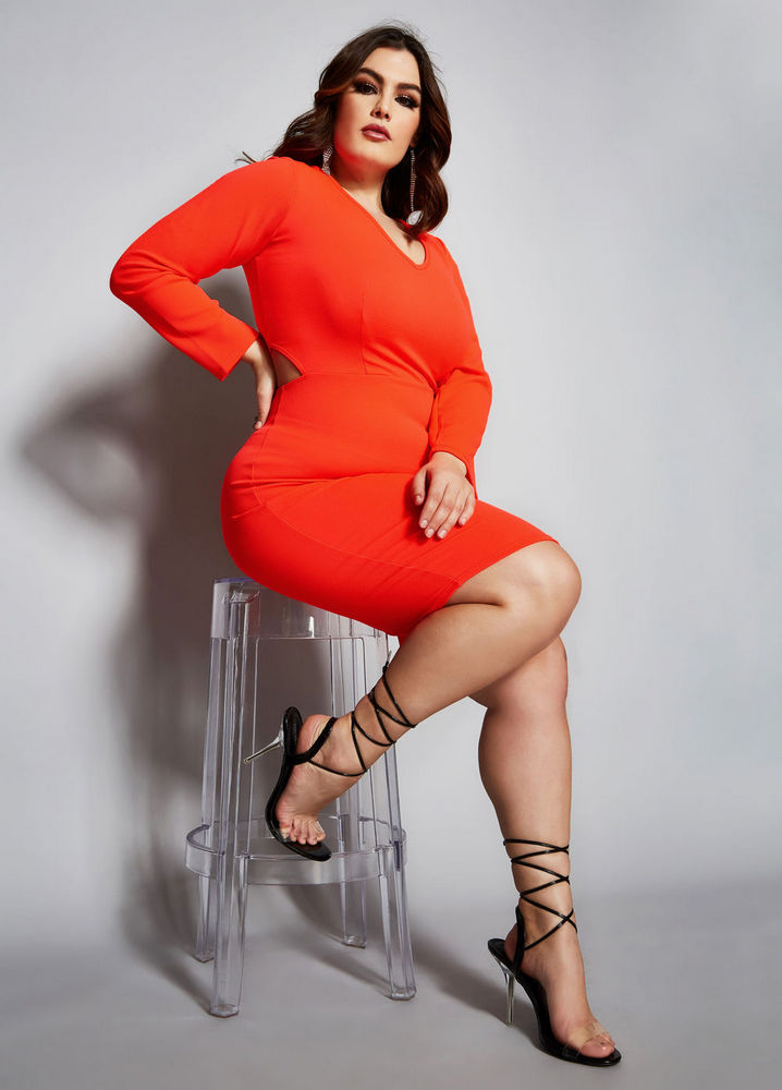 The Lyla Dress at AshleyStewart- Spring plus size favorites from Curvy Girl Collection by Ashley Stewart