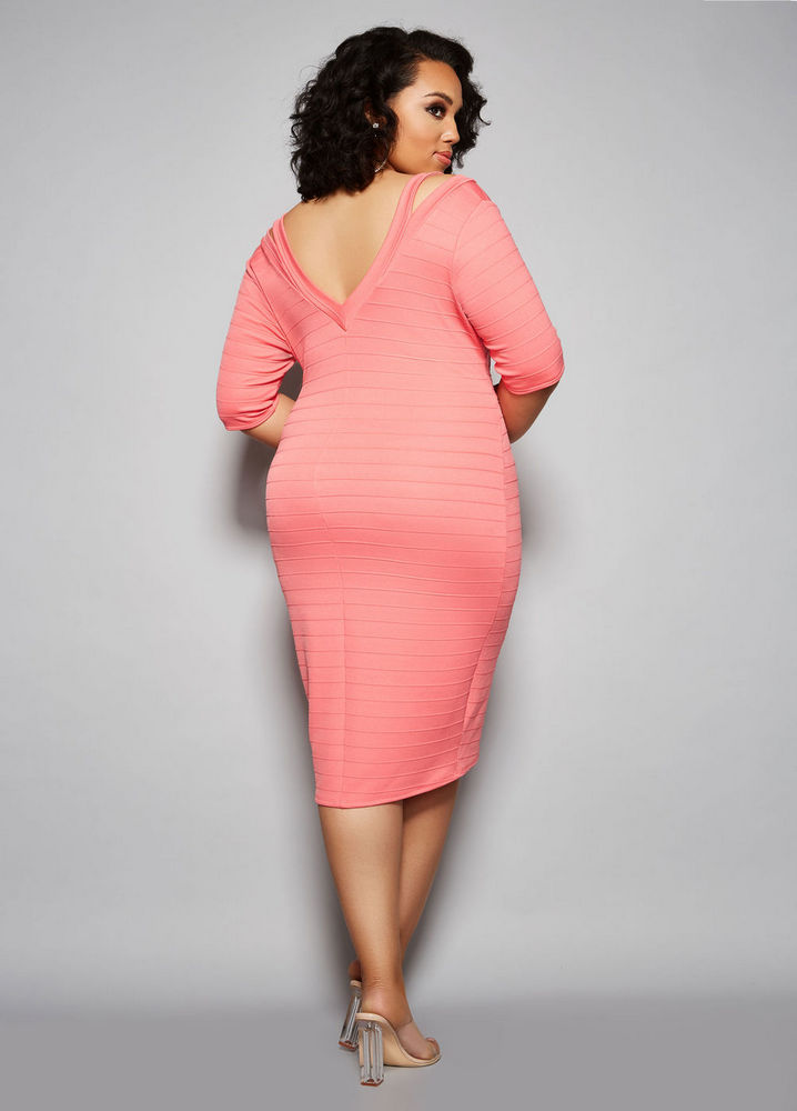 The Amelia Dress at AshleyStewart- Spring plus size favorites from Curvy Girl Collection by Ashley Stewart