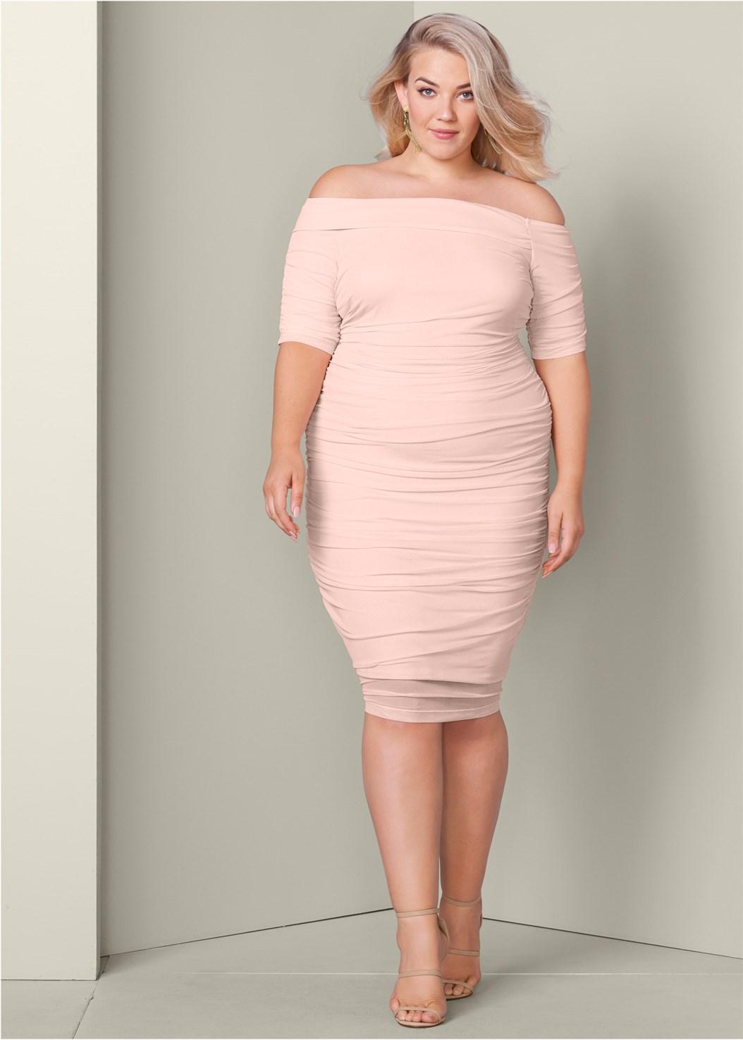 Venus Ruched Mesh Dress