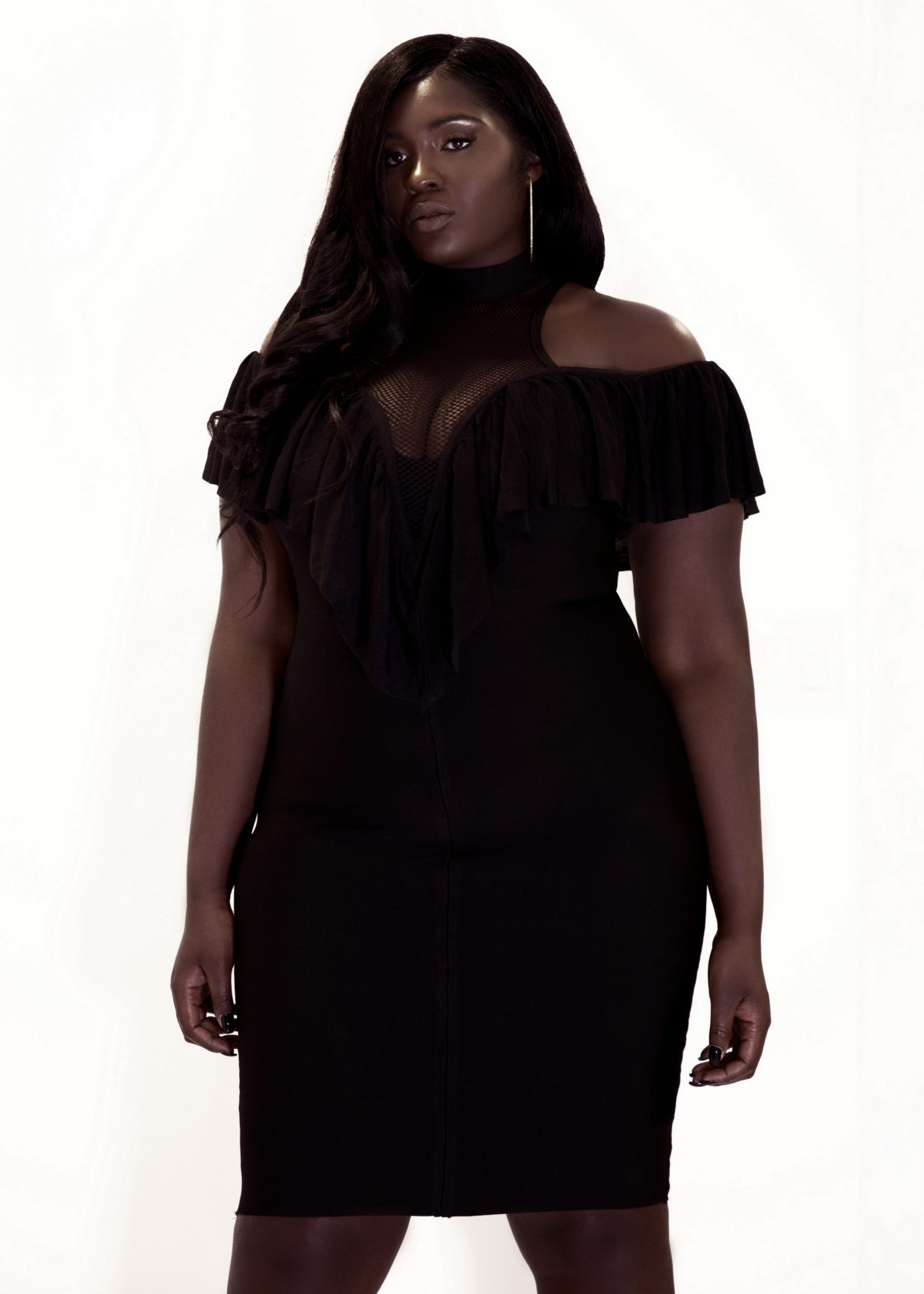 Alluring Ruffle Dress by Shop Majour