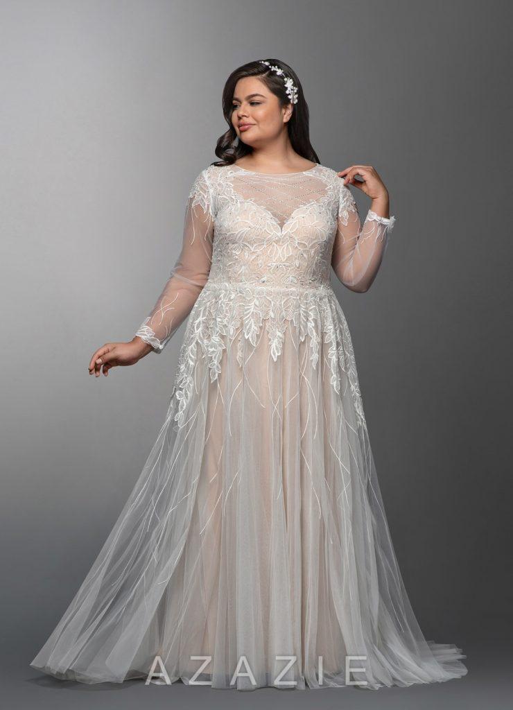 Affordable Plus Size Bridal Gowns- Azazie Elvina Bridal Gown