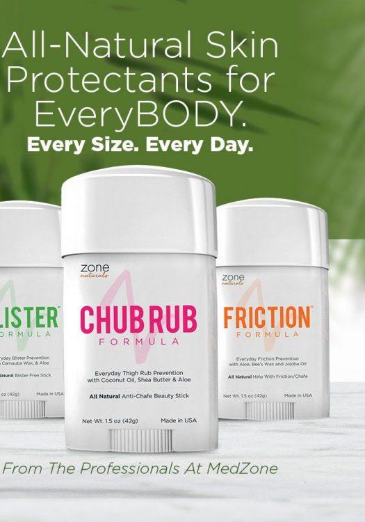 Organic Chub Rub Anti Chafing Stick by Zone Naturals