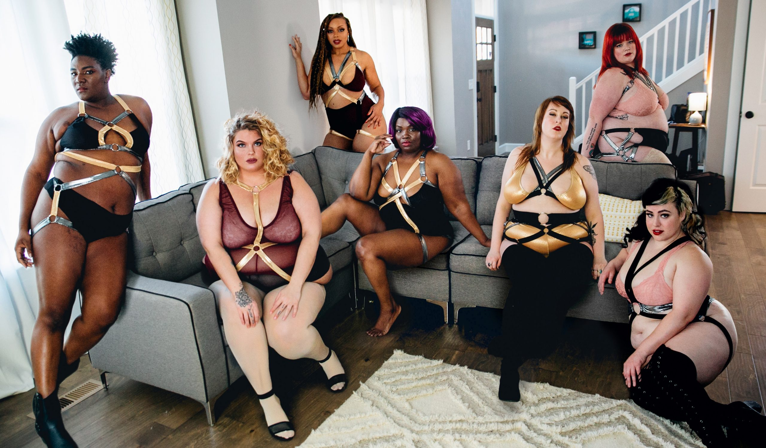 Racy plus size lingerie
