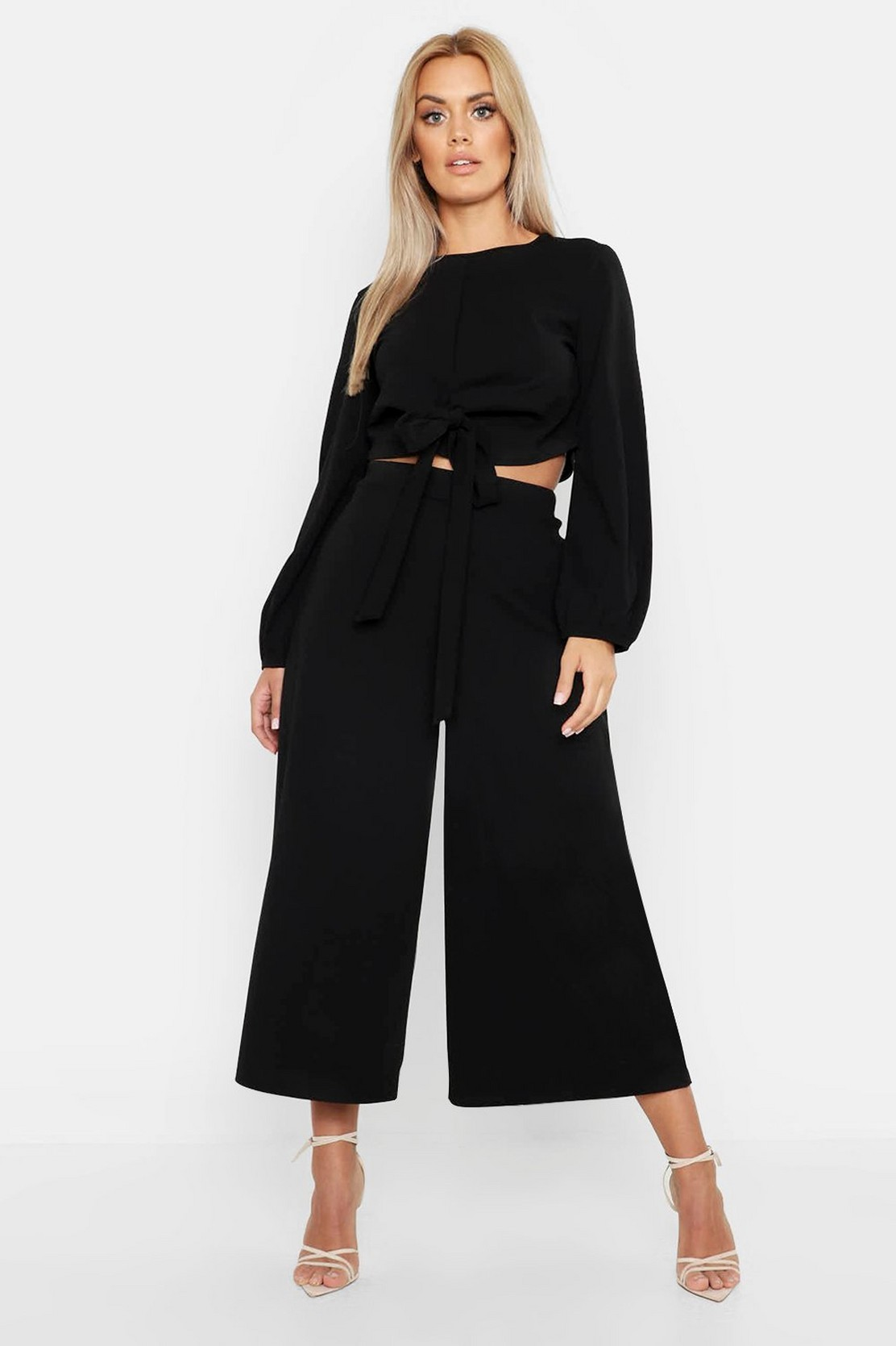 Boohoo wrap top and coulotte