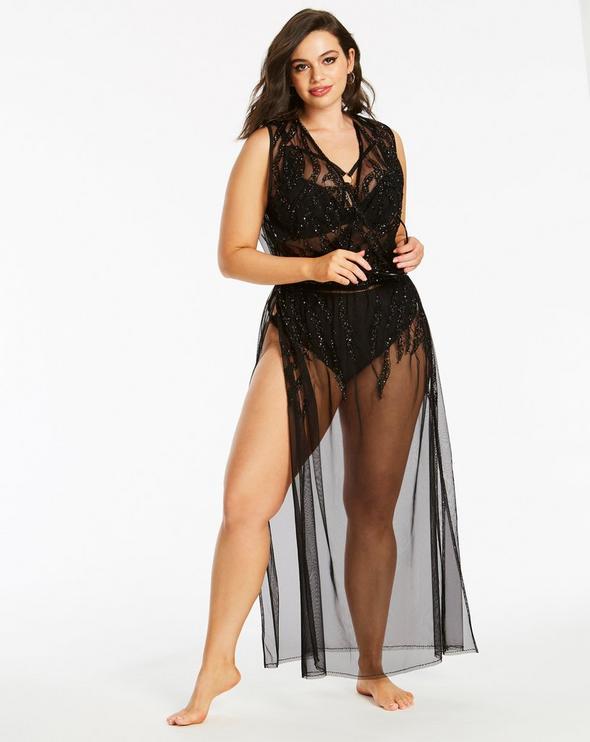 Figleaves Curve Jeweled Maxi Dress