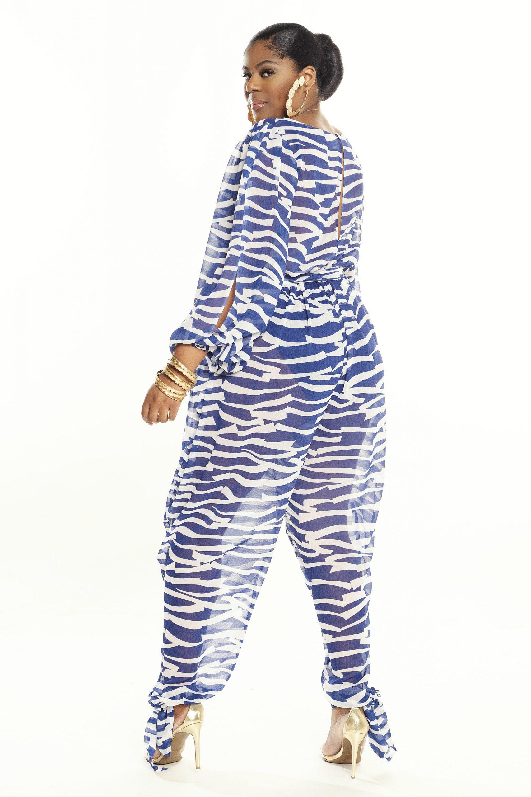 Jibri Full Sleeved Sheer Poolside Jumpsuit with Ankle Ties
