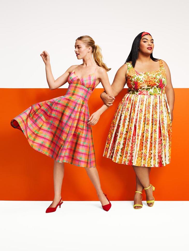 Isaac Mizrahi for Target Women's Plaid Sleeveless V-Neck Silk Dress