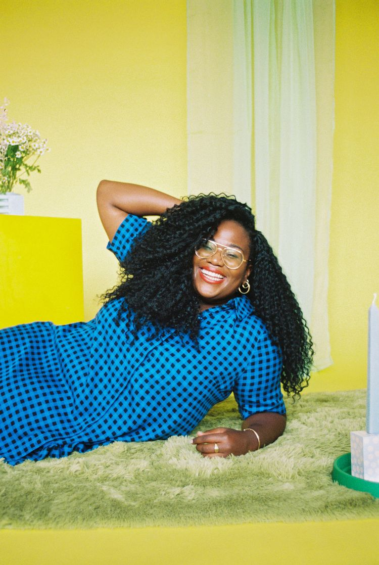 Aidy Bryant Pauline Collection- the lovington dress in Gingham