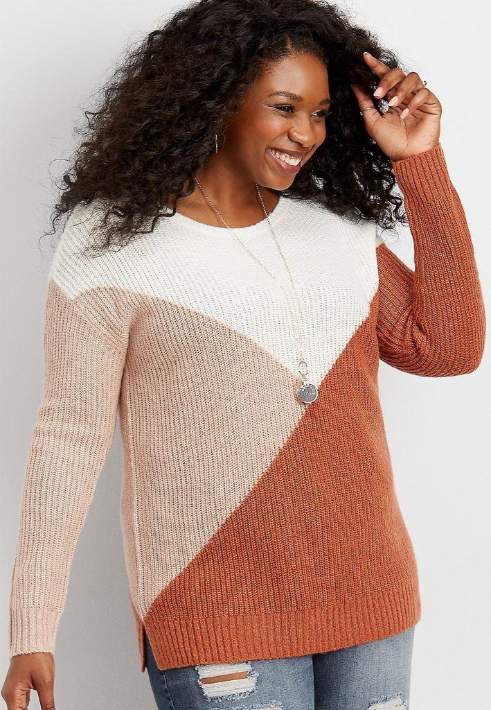 Maurice's colorblock sweater